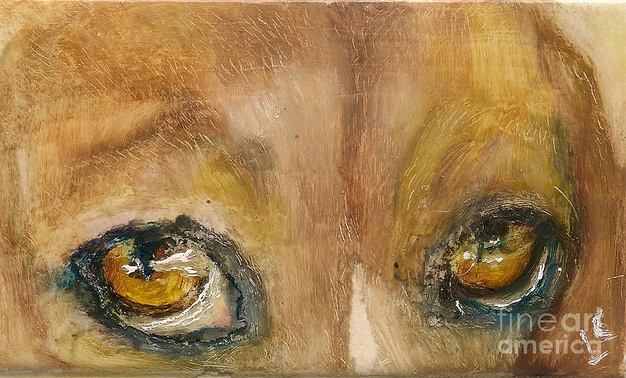 Eyes Painting - Sad Eyes by Donna Chaasadah