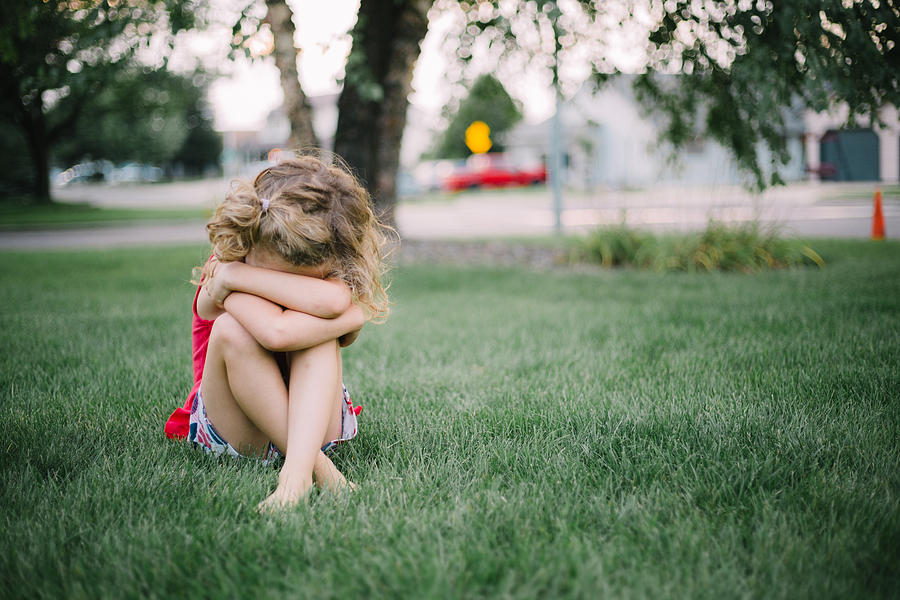 Sad girl Photograph by Annie Otzen