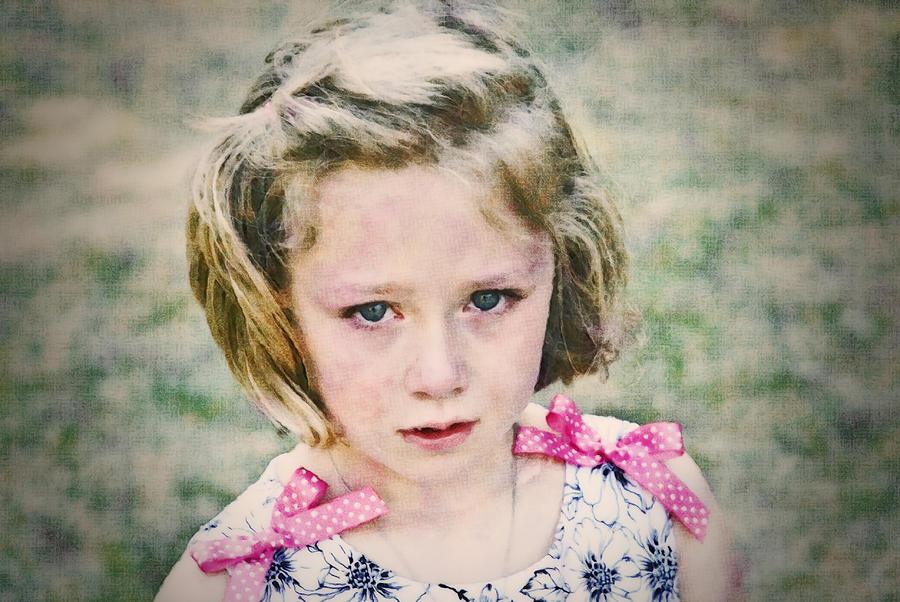 Sad Photograph - Sad Girl Digital Art by Susan Leggett
