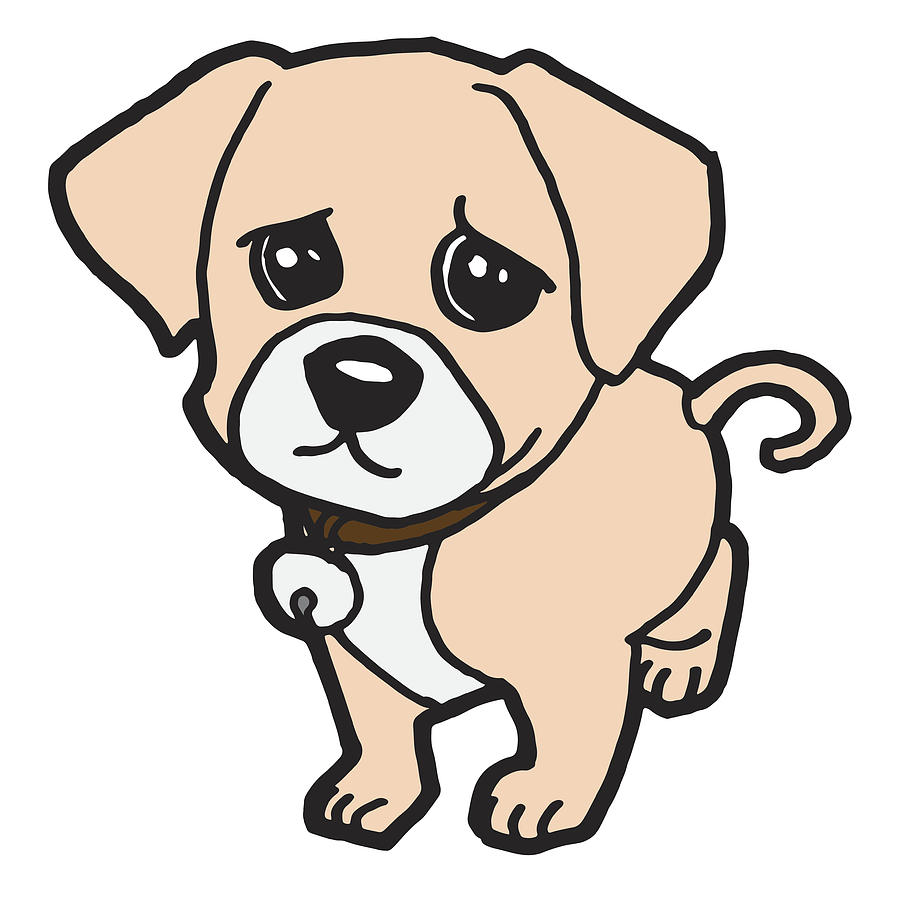 Sad Puppy Dog Vector by Attaphong