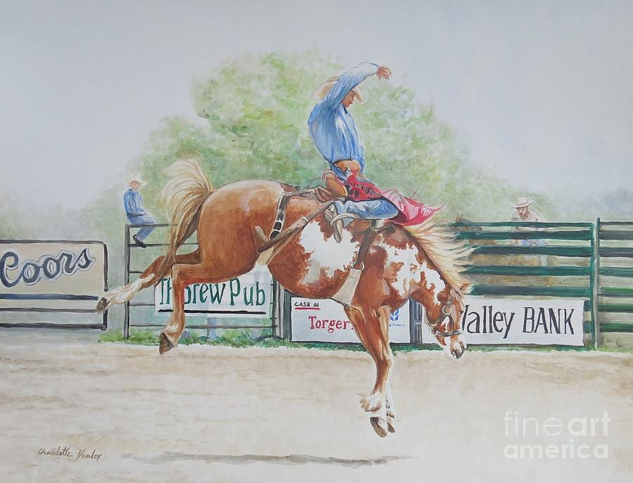 Horse Painting - Saddle Bronc by Charlotte Yealey