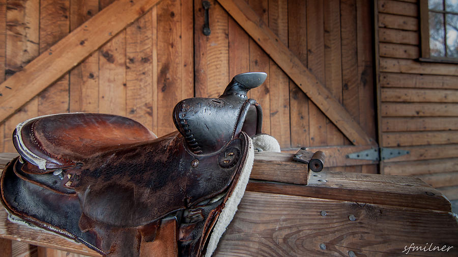 Country Photograph - Saddle Rest by Steven Milner