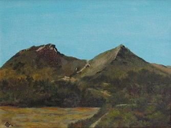 Saddleback Painting - Saddleback Mountain by Terry Sonntag