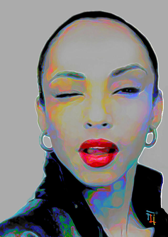 Sade Painting - Sade 3 by Fli Art