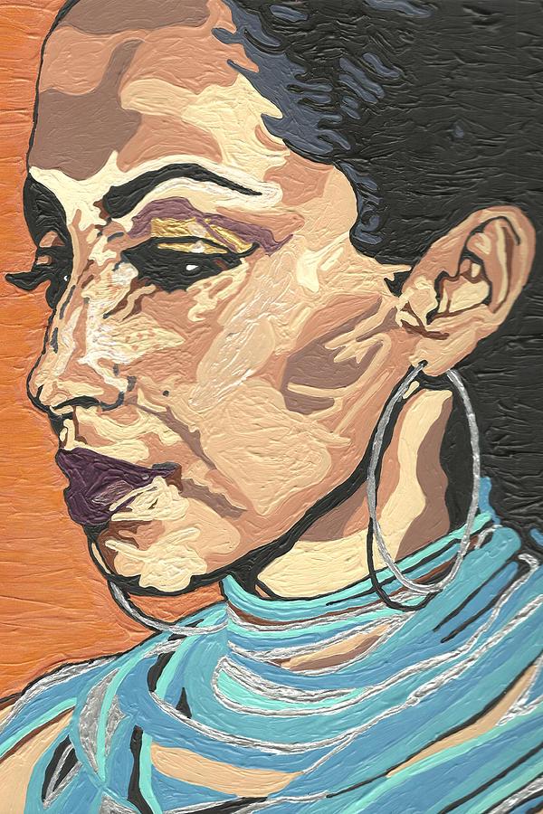 Sade Painting - Sade Adu by Rachel Natalie Rawlins