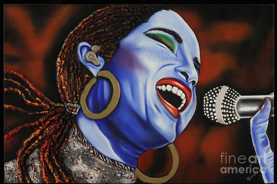 Portrait Painting - Sade In Concert by Nannette Harris