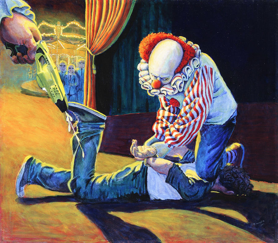 The People Painting - Sadistic Clowns by Mike Walrath