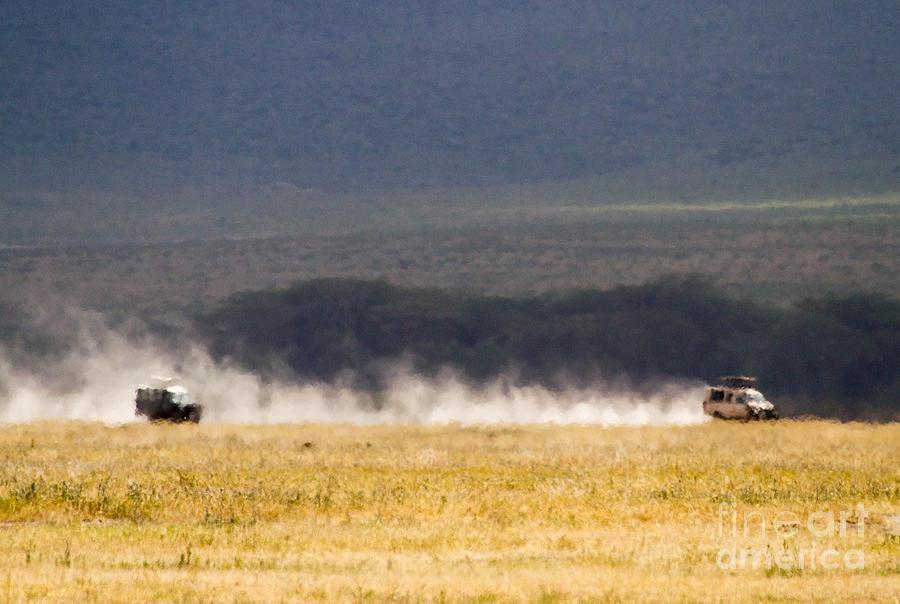 Cars Photograph - Safari Dust by Chris Scroggins