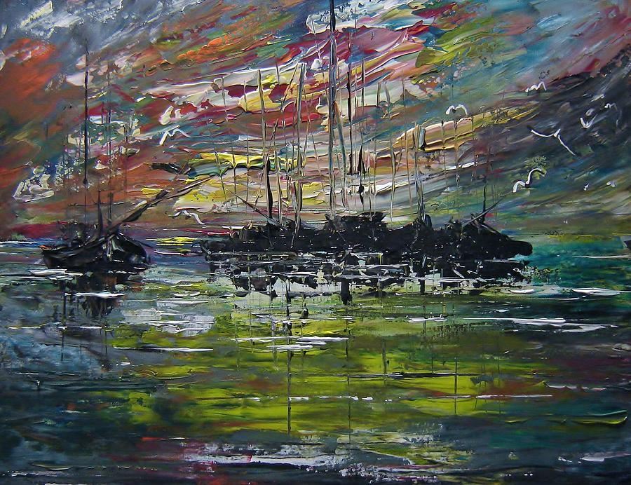 Seascape Painting - Safe Harbour by Eugene Budden