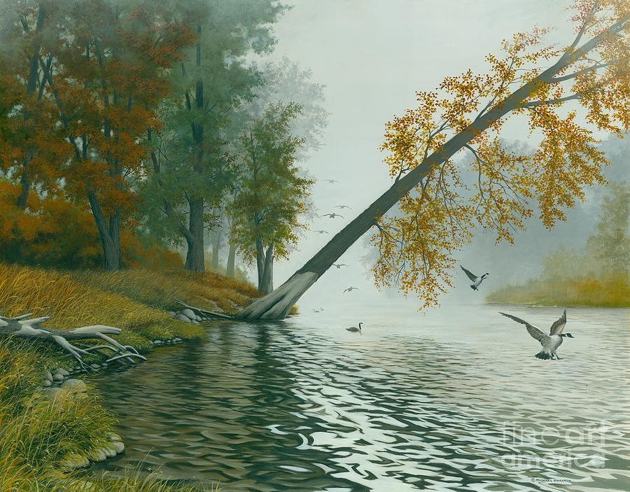 Autumn Landscape Painting - Safe Refuge by Michael Swanson