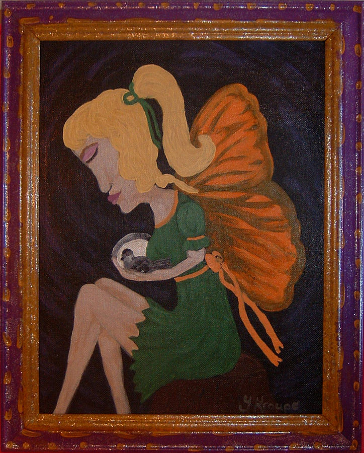 Fairy Painting - Safe by Yvonne  Kroupa