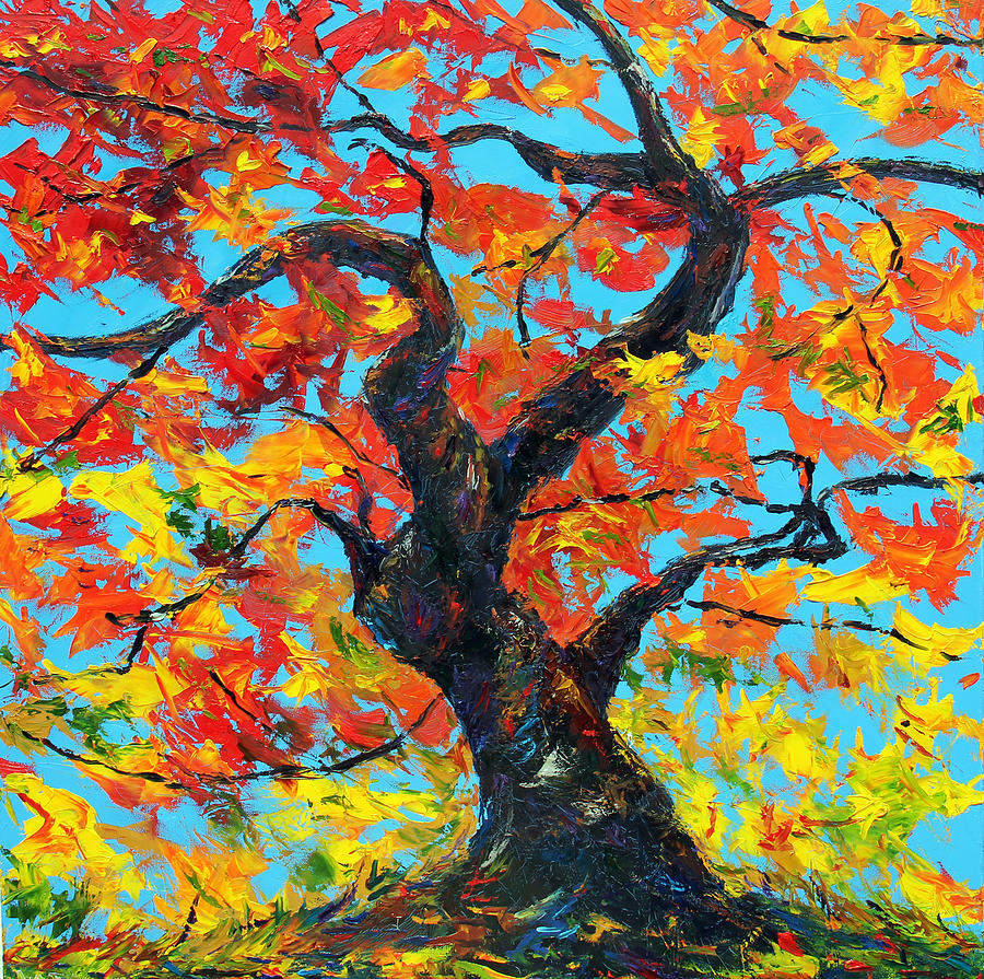 Trees Painting - Safely Abiding by Meaghan Troup