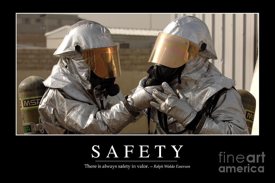 Horizontal Photograph - Safety Inspirational Quote by Stocktrek Images