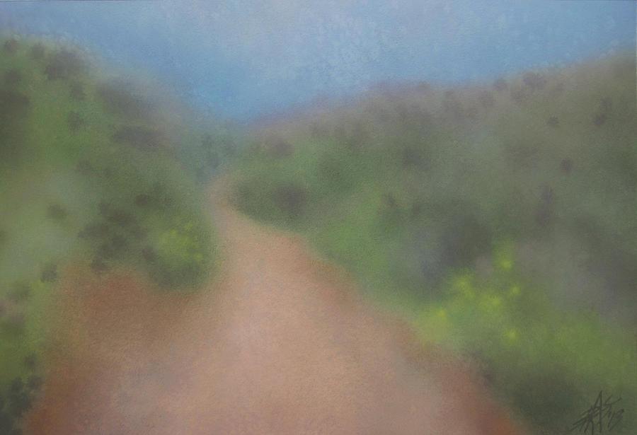Sagebrush Painting - Sagebrush And Coastal Fog by Robin Street-Morris