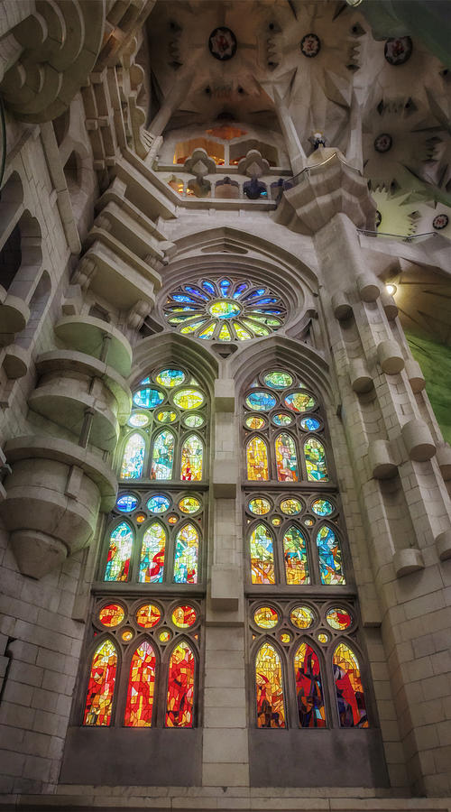 Joan Carroll Photograph - Sagrada Familia Window by Joan Carroll