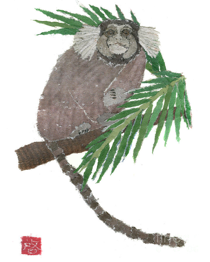 Rio De Janeiro Painting - Tamarin Monkey Art by Keiko Suzuki