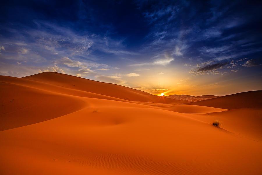 Desert Photograph - Sahara desert sky by Desislava Panteva
