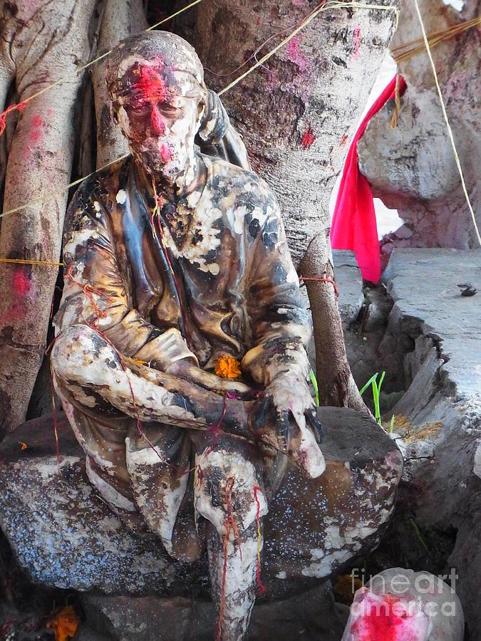 Sai Baba Of Shirdi Photograph - Sai Baba - Resting At Pushkar by Agnieszka Ledwon