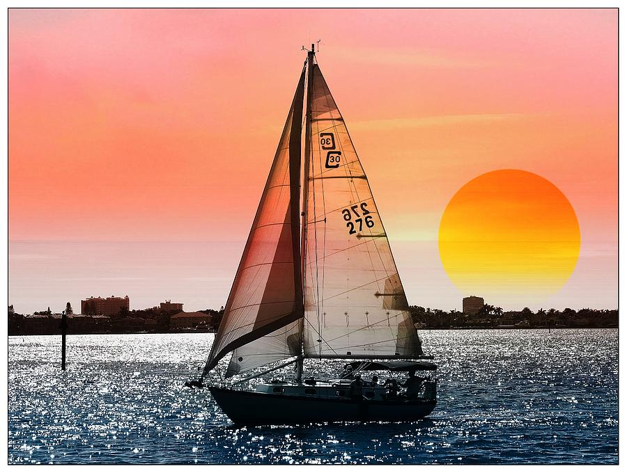 Boat Photograph - Sail Away With Me by Athala Carole Bruckner