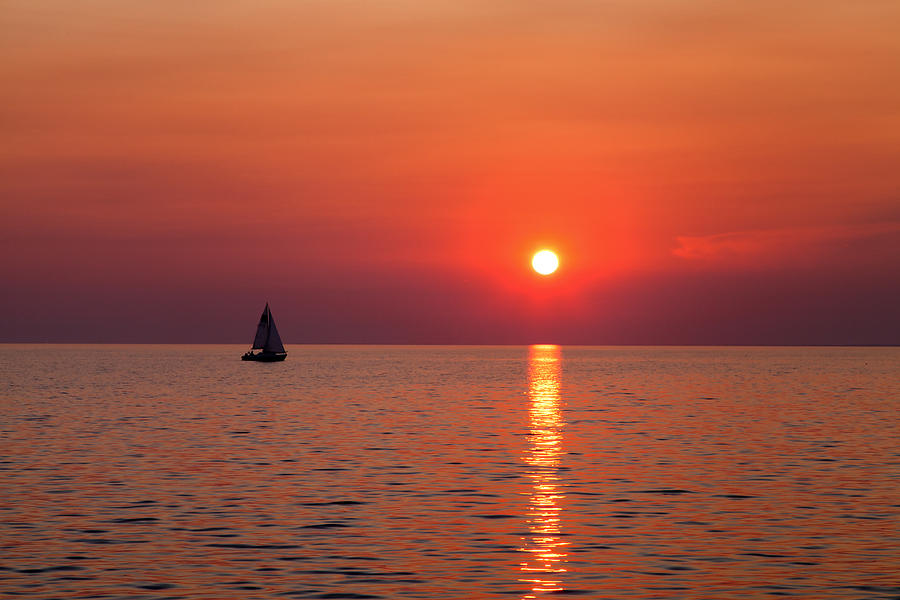 Sunset Photograph - Sail Away With Me by Brian Boudreau