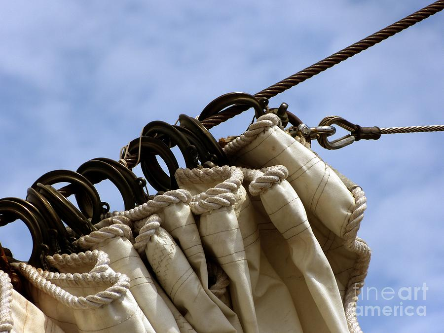 Sail Photograph - Sail Hanks by Christine Stack