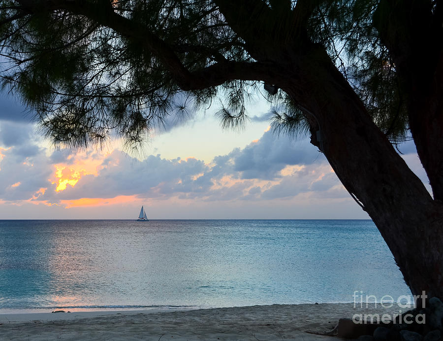 Grand Cayman Photographs Photograph - Sail Into The Sunset by Karen English
