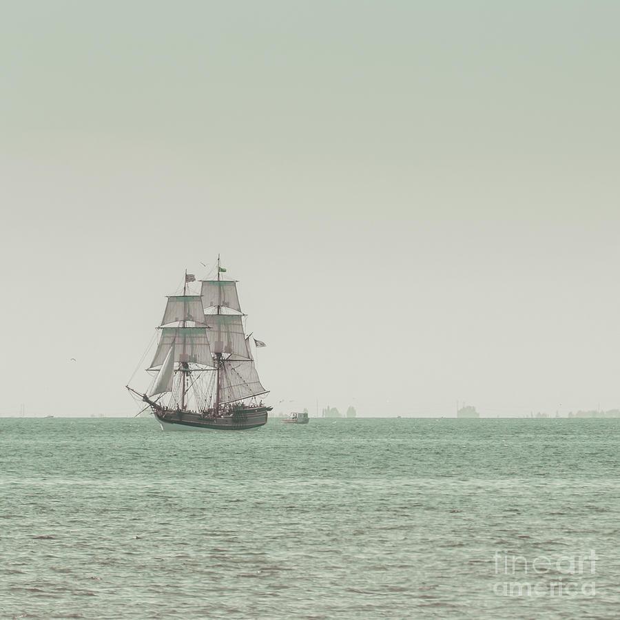 Blue Photograph - Sail Ship 1 by Lucid Mood