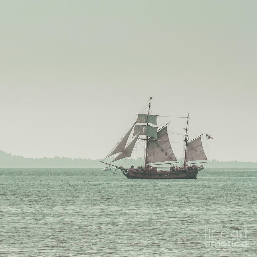 Blue Photograph - Sail Ship 2 by Lucid Mood