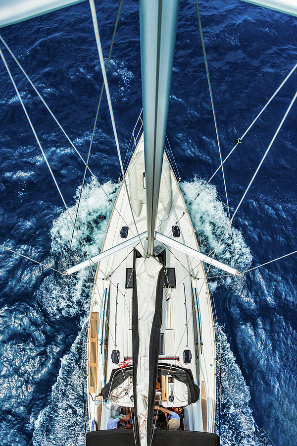 Sailboat From Above Photograph by Mbbirdy
