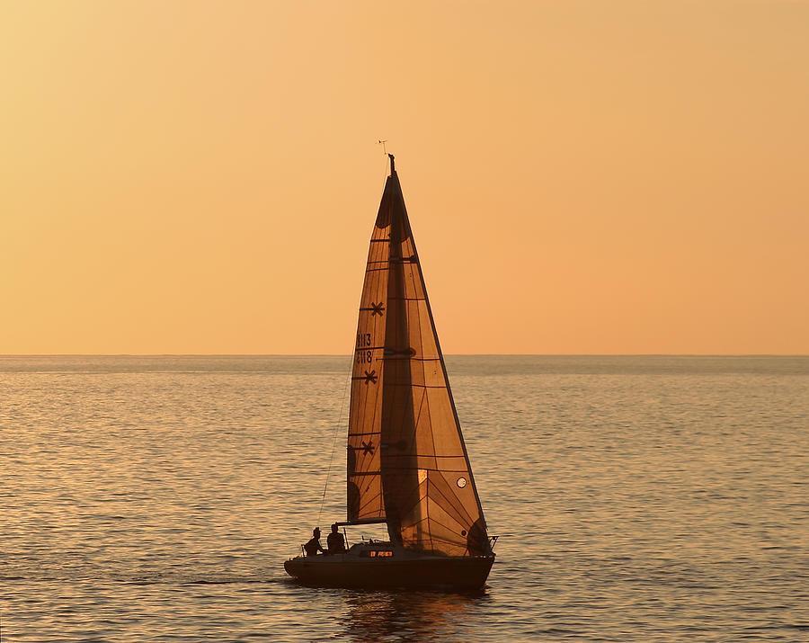 Hawaii Photograph - Sailboat In Hawaii by Kim Hojnacki