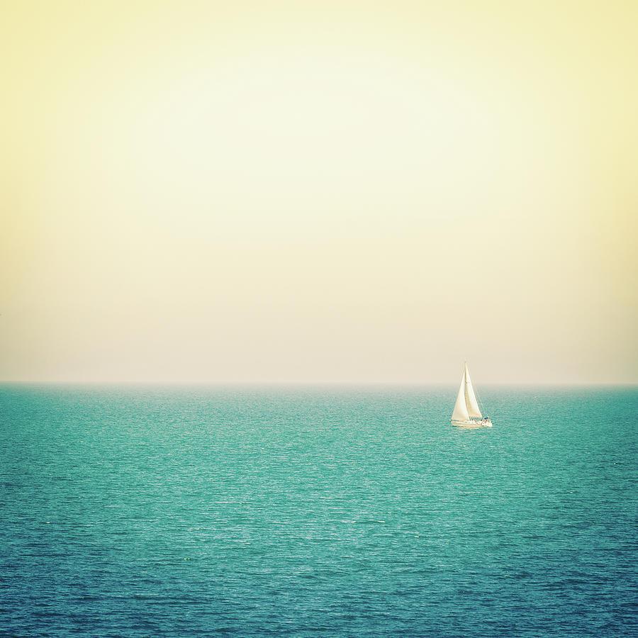 Sailboat On The Sea, Italy Photograph by Zodebala