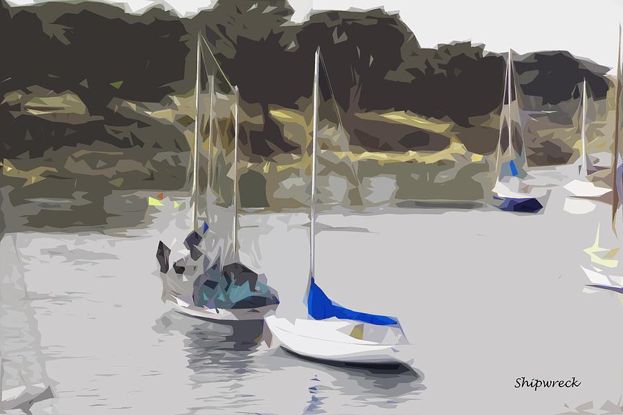 Sail Digital Art - Sailboats by Christopher Bage