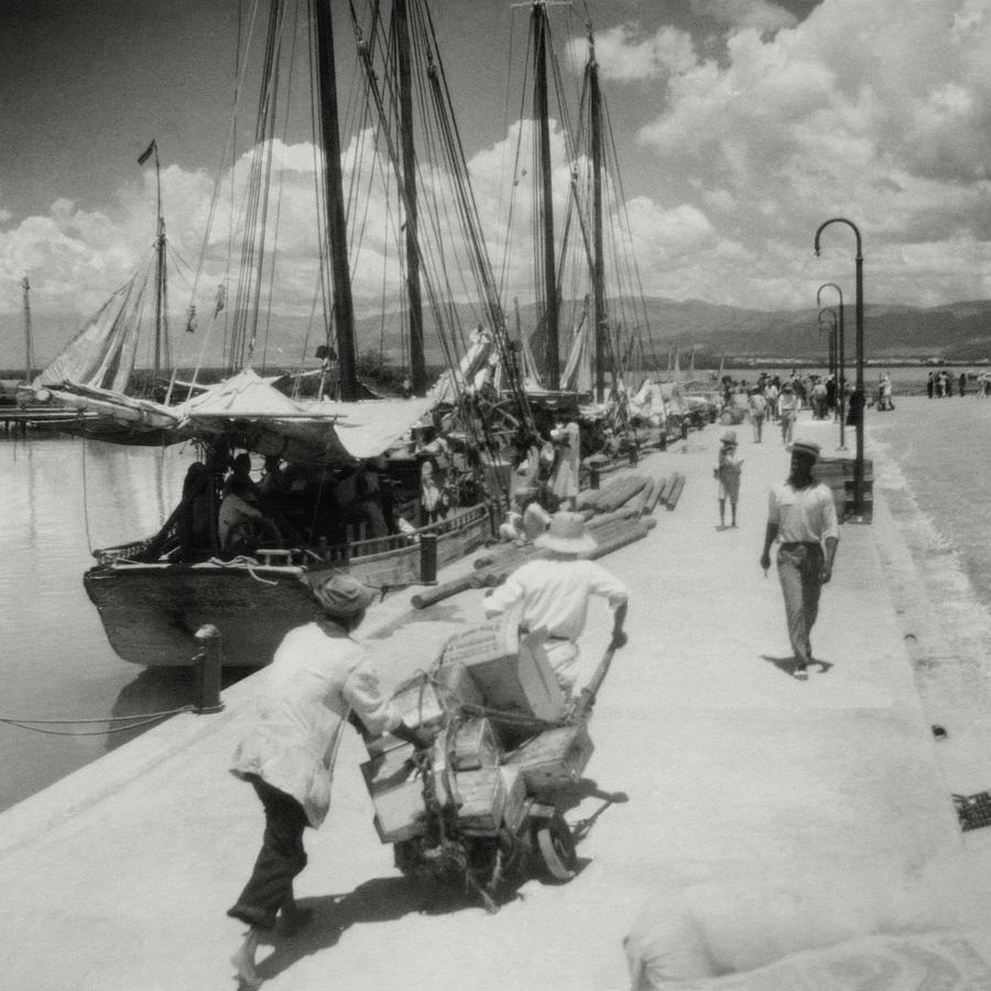 Sailboats In Haiti Photograph by Cecil Beaton