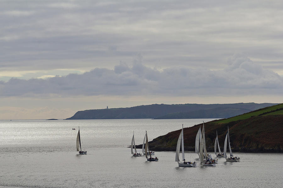 Sailboats Race Out Of Kinsale Harbour Photograph by Eric Sturdivant