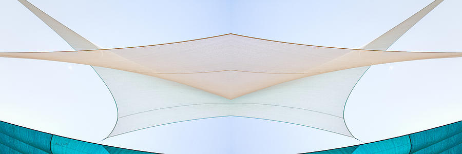 Abstract Photograph - Sailcloth Abstract Times Two by Bob Orsillo