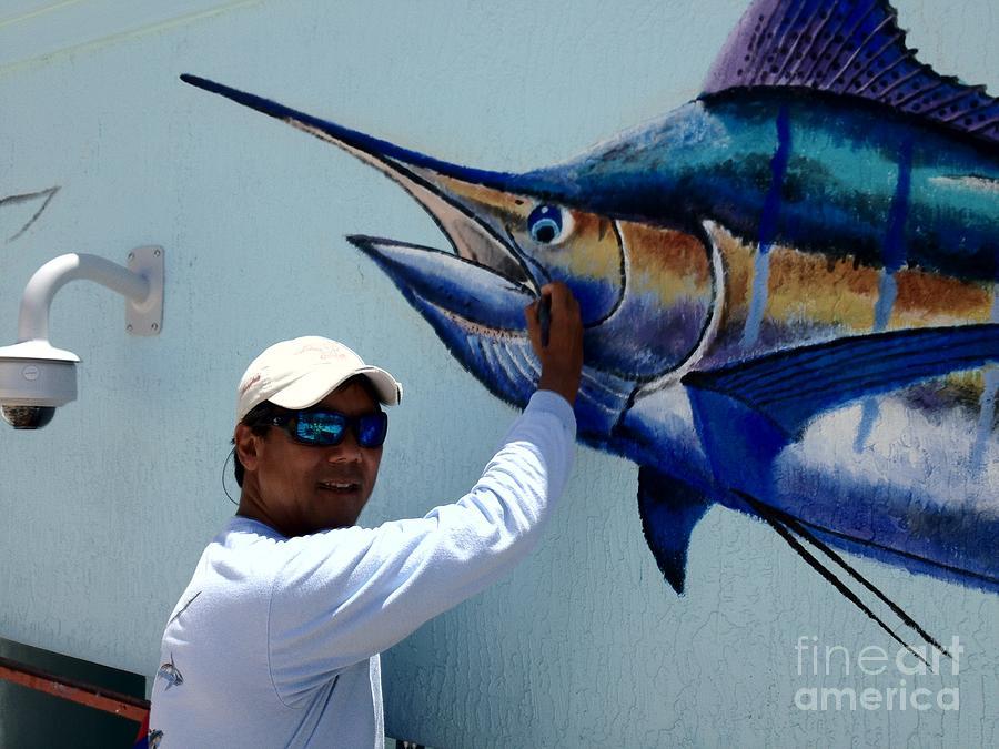 Sailfish Splash Park Painting - Sailfish Splash Park 3 by Carey Chen