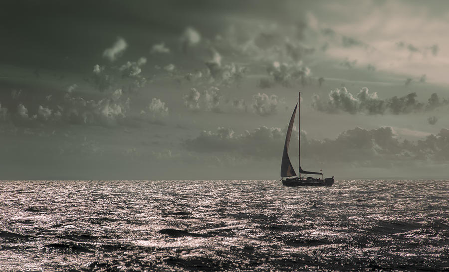Boat Photograph - Sailing by Akos Kozari