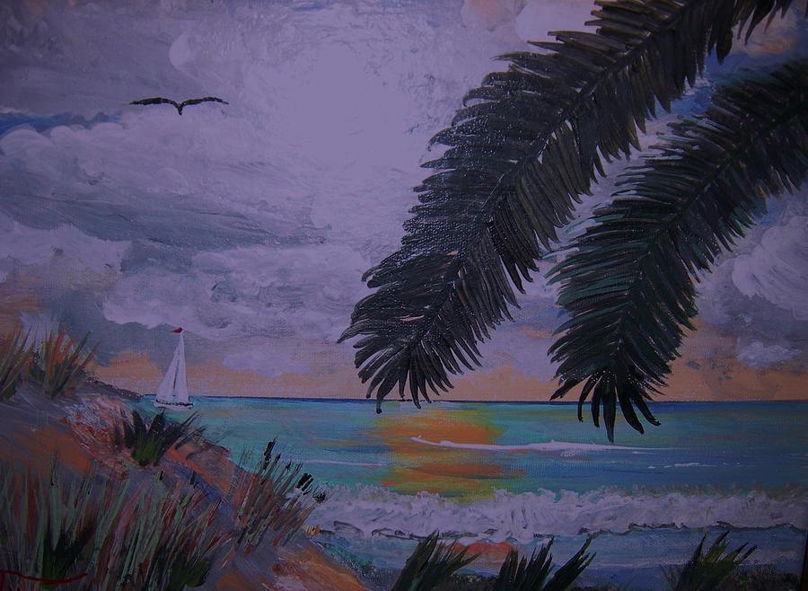 Beach Painting - Sailing Along The Shore by David Earl Tucker