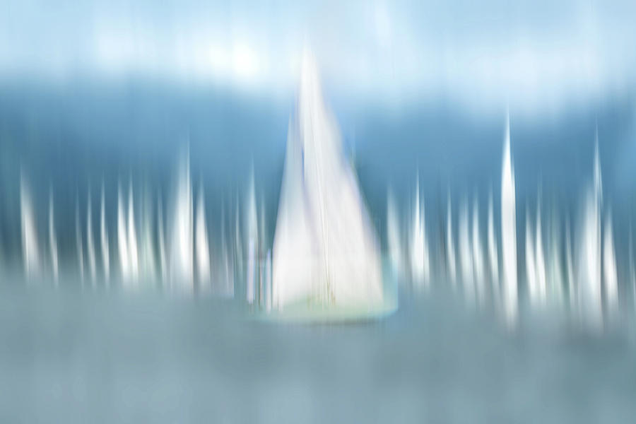Impressionistic Photograph - Sailing by Anette Ohlendorf