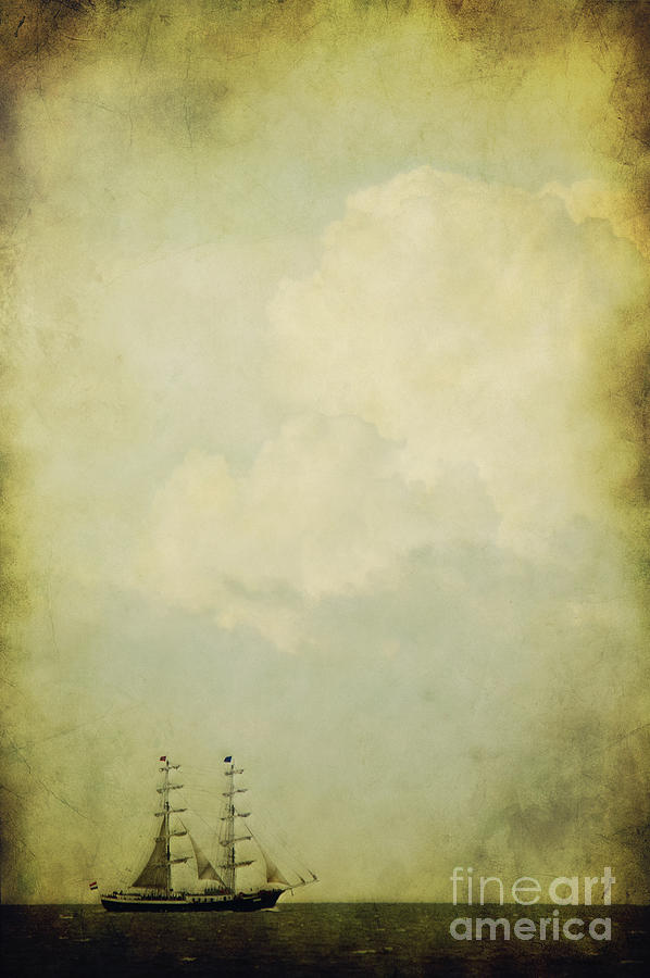 Sea Photograph - Sailing by Angela Doelling AD DESIGN Photo and PhotoArt