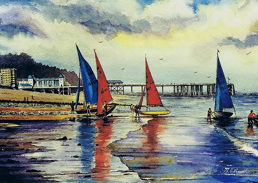 Sailing Painting - Sailing At Penarth by Andrew Read