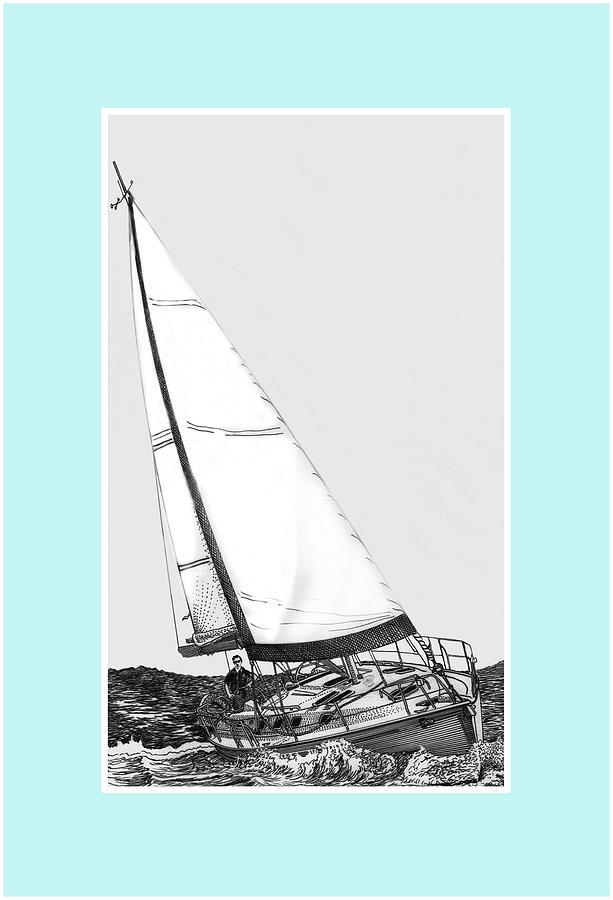 Reaching Digital Art - Sailing Freedom On A Reach by Jack Pumphrey