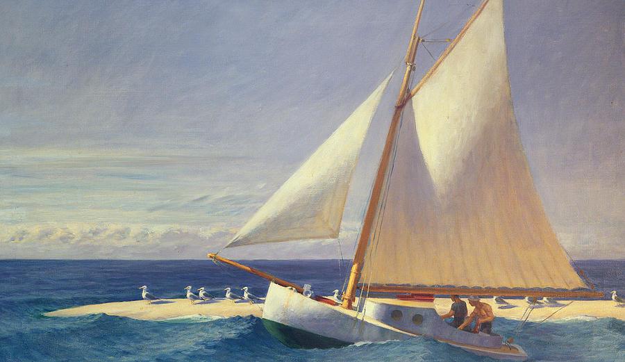 Boat Painting - Sailing Boat by Edward Hopper