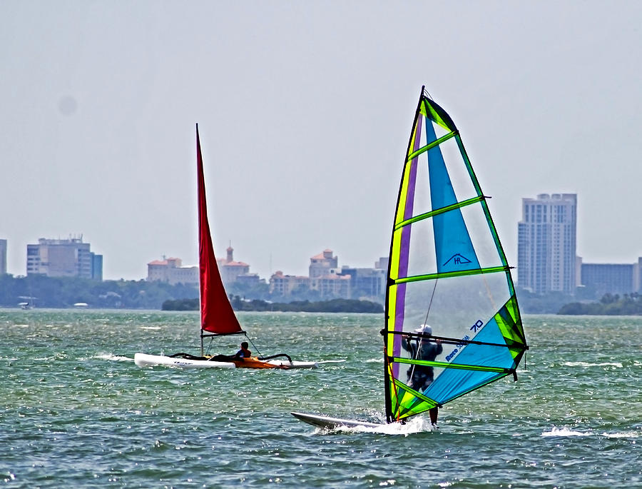 Windsurfing Photograph - Sailing For Joy by Norman Johnson