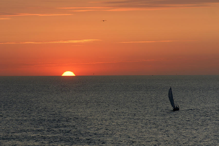 Boat Photograph - Sailing From The Sun by Erik Tanghe