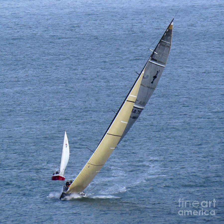 Yachts Photograph - Sailing Fun by Scott Cameron
