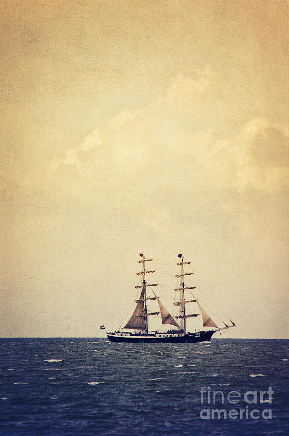 Sailing Photograph - Sailing II by Angela Doelling AD DESIGN Photo and PhotoArt