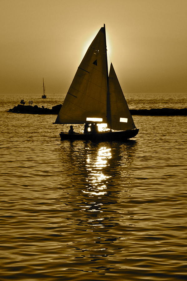 Sailing Photograph - Sailing In Sepia by Frozen in Time Fine Art Photography