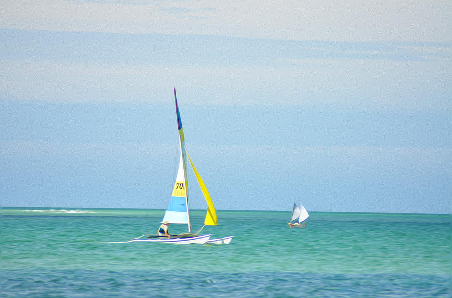 Florida Photograph - Sailing In The Gulf Of Mexico by Bill Cannon