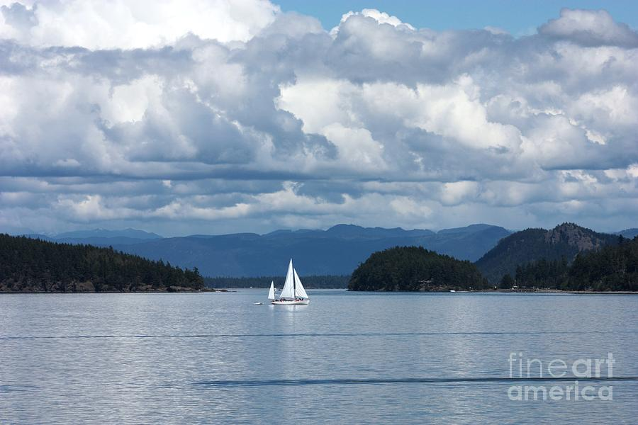 Nautical Photograph - Sailing In The San Juans by Carol Groenen